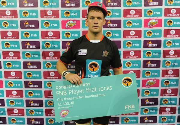 Divan 'Man of the Match' in Varsity Cup-wedstryd