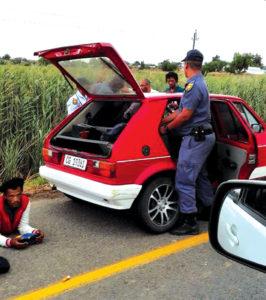 Polisie vind tik by dorp-ingang