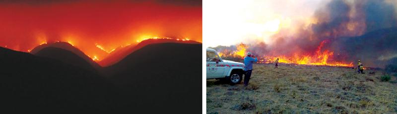 Klein Karoo brand weer