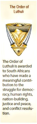Order of Luthuli awarded to two former Oudtshoorn residents