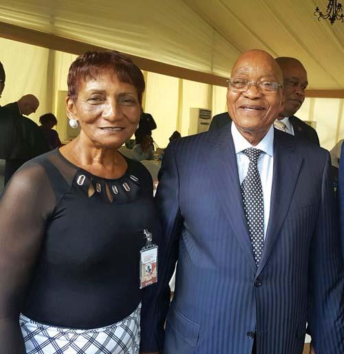 Lizzy Oliphant Vrydag saam met pres Jacob Zuma.