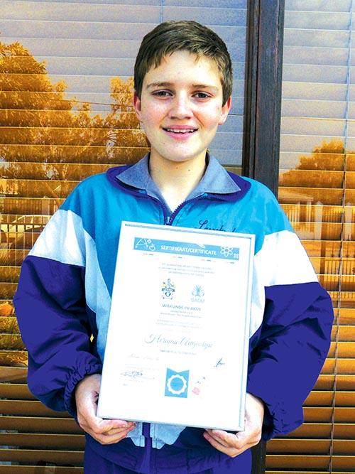 Laerskool Wesbank-leerder kry tweede plek in die Oos-Kaap streek vir Wiskunde-in-Aksiepretdag