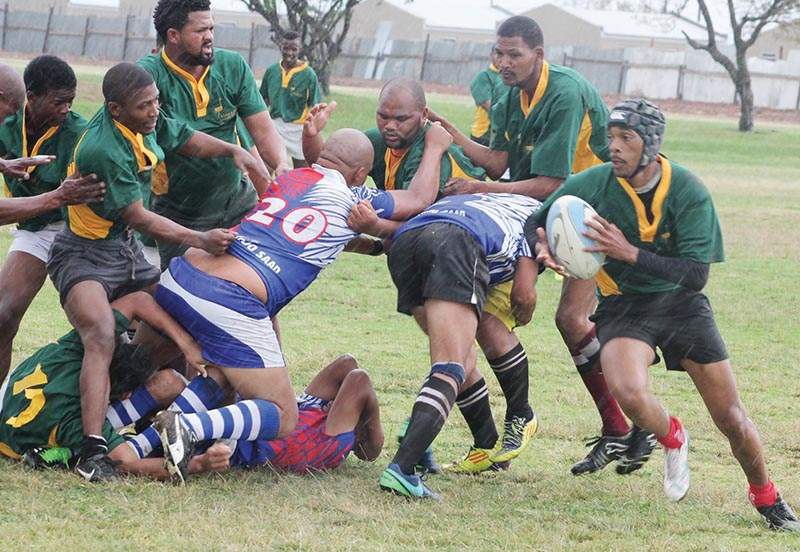 Rugby-aksie Erfenisdagvieringe op Bridgton Sportgronde