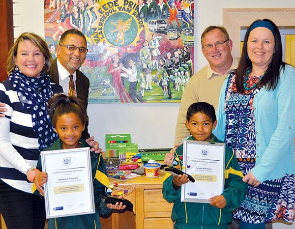 Van Reede primary Grade 1 learners received trophies and certificates at the Provincial Art Exhibition of the Eden and Central Karoo District