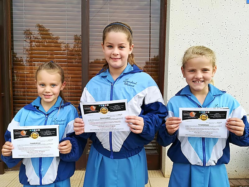 Drie leerders van Laerskool Wesbank wenners van Cango Wildlife Ranch se Aasvoël Inkleurkompetisie