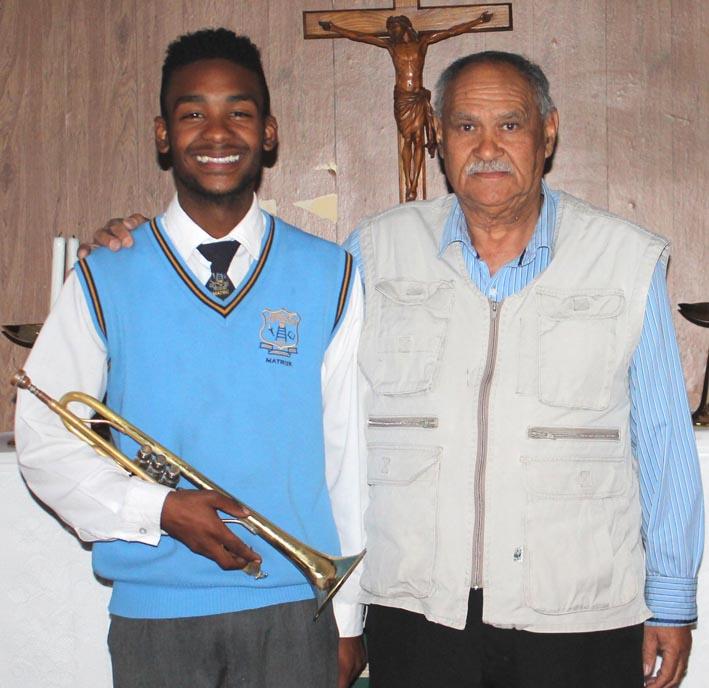Jong trompetblaser van Oudtshoorn besoek Duitsland