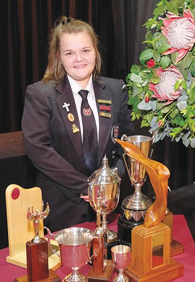 Lisa Victor, toppresteerder van graad 8 tot 12.