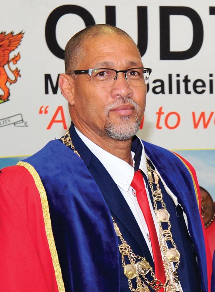 Burgemeester Colan Sylvester. Foto: Schalk le Roux