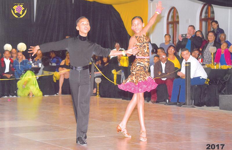 Twee dansers skitter in Londen