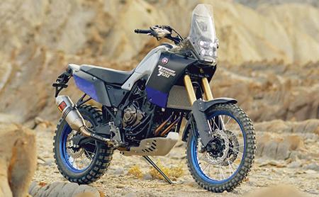 Yamaha se jongste konsepadevontuurmotorfiets, die Tenere 700, wat onlangs by die 2017 EICMA Motorskou in Milan vertoon is. Die produksiemodel word egter nog gefinalseer.
