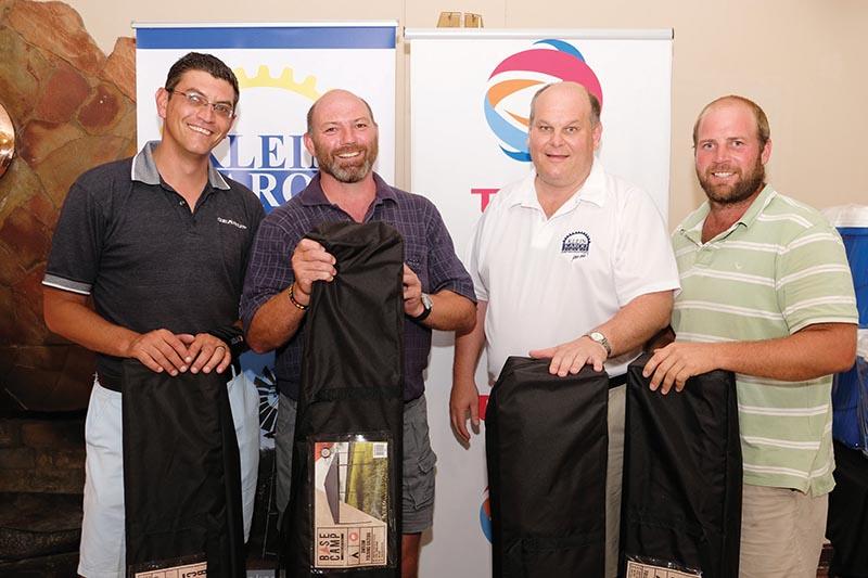 Die wenners van Klein Karoo Agri se gholfdag verlede Donderdag is van links Louis Fourie, Alroy Jordan, Terblanche du Plessis en Hannes van Niekerk.