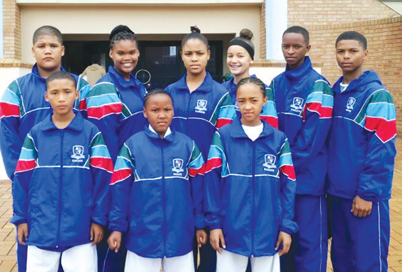 The Oudtshoorn Jikkai-Do Karate Club's team, under the auspices of Sensei Avril Maarman, formed part of the Western Cape Karate Team that competed in the SA National Championships in Durban. The team is front from left Gio Bruintjies, Haylee Cedras and Sarah-Jane Lewis, and back from left Shane May, Sheree Constable-Samson, Daetania de Laan, Candace Maarman, JP Le Roux and Lleythan Smith. Sarah-Jane won a silver in medal the Kumite for girls 10-11 u.30kg and  Lleythan a gold medal in the Kumite for junior boys u.57kg.