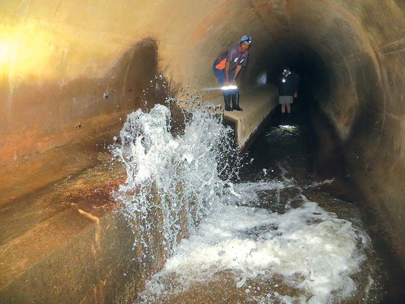 Waterverlies van 2 miljoen liter per dag