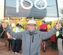 82-jarige voltooi 100ste Parkrun
