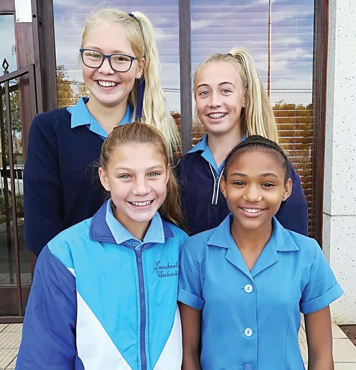 Vier leerders van Laerskool Wesbank gekies vir SWD interdistrikte-netbalspan