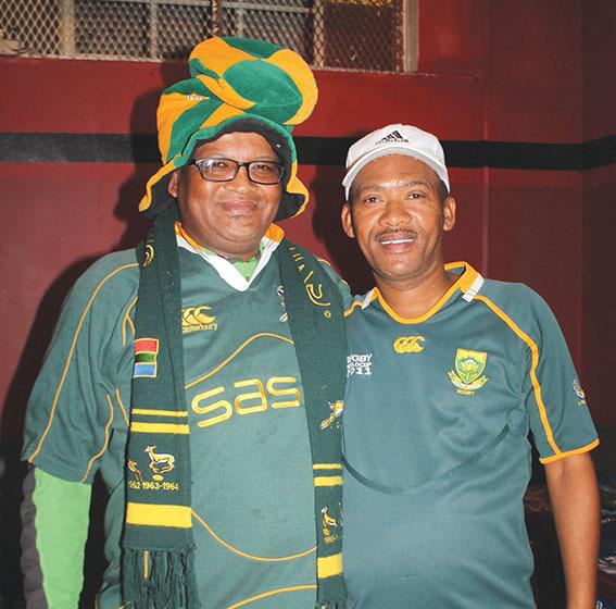Stoere Springbok- ondersteuners