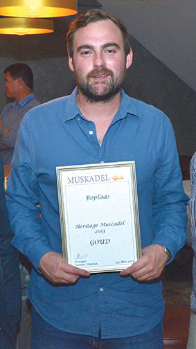 Gold for Boplaas Heritage White Muscadel 2013