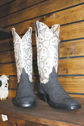 Cowboy-stewels nou van volstruisleer!