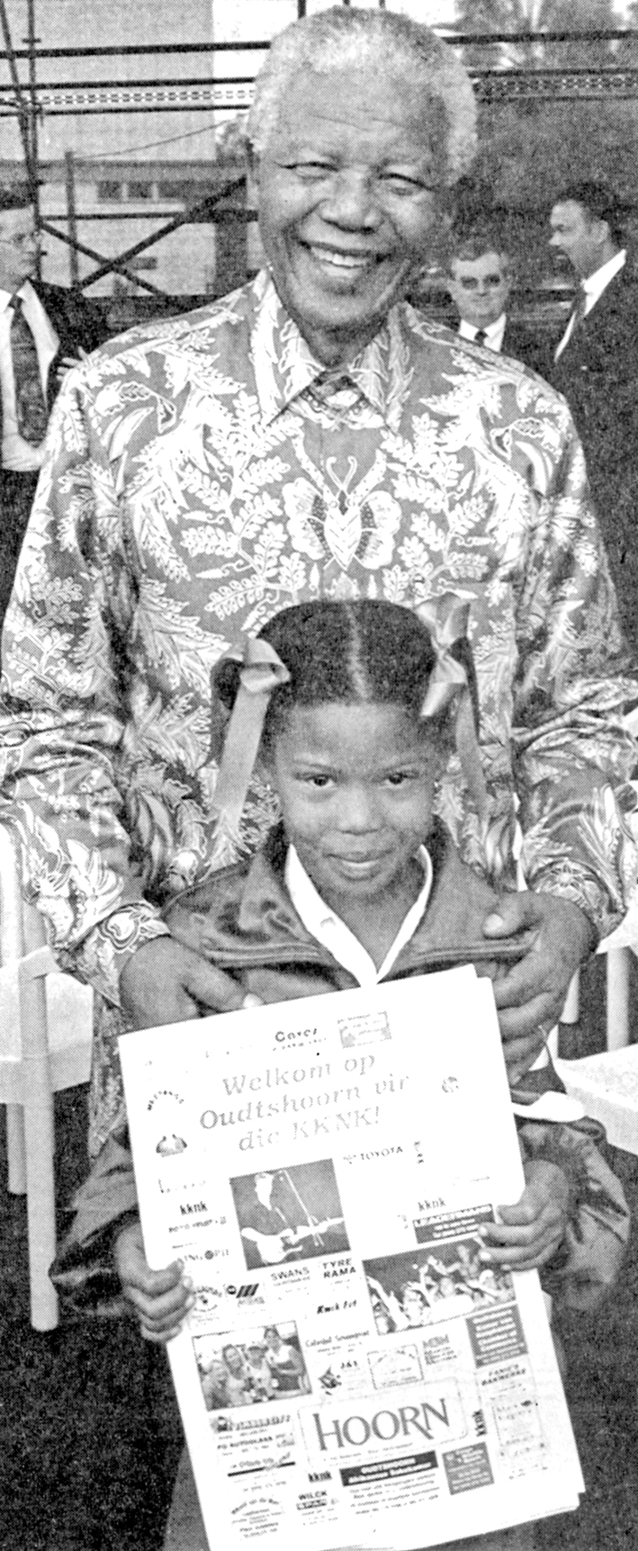Nelson Mandela se boodskap - in Afrikaans - op Oudtshoorn
