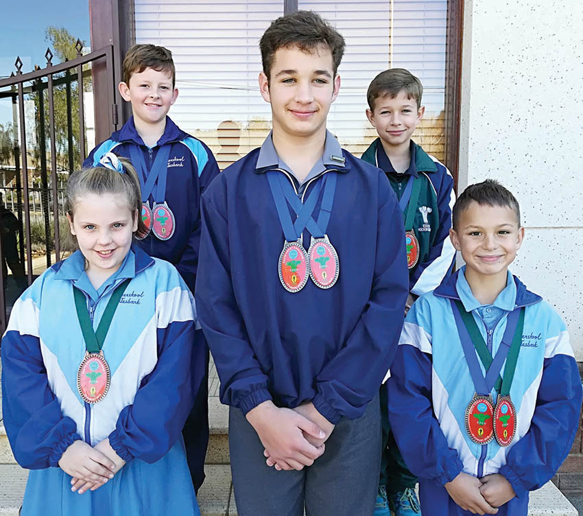 Vyf leerders van Laerskool Wesbank neem deel aan die Skopboks Suidkus Uitdaagtoernooi