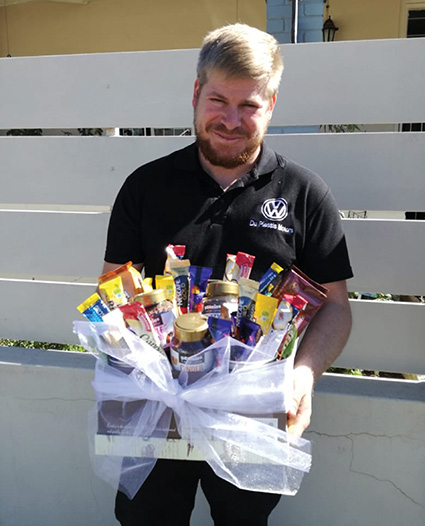 Winner of the Coffee Hamper Raffle presented by ACT