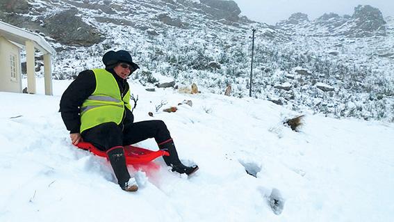 Sneeupret op die Swartberge