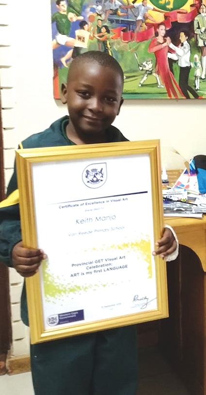 Grade 1 learner from Van Reede Primary went to an opening of an arts exhibition