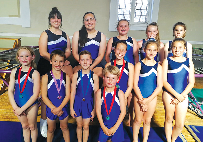 12 Gymnasts represented Oudtshoorn in the Western Cape gymnasts competition that was held in Gezina, Pretoria