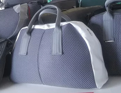 Handbags made of seat cover material