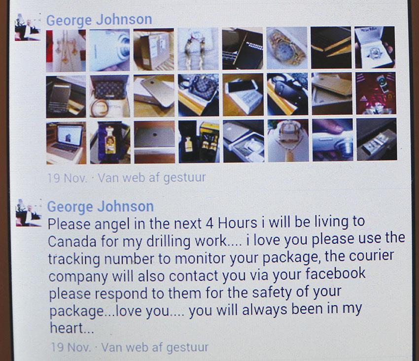 15 van hier slagoffers van Facebook-slenter