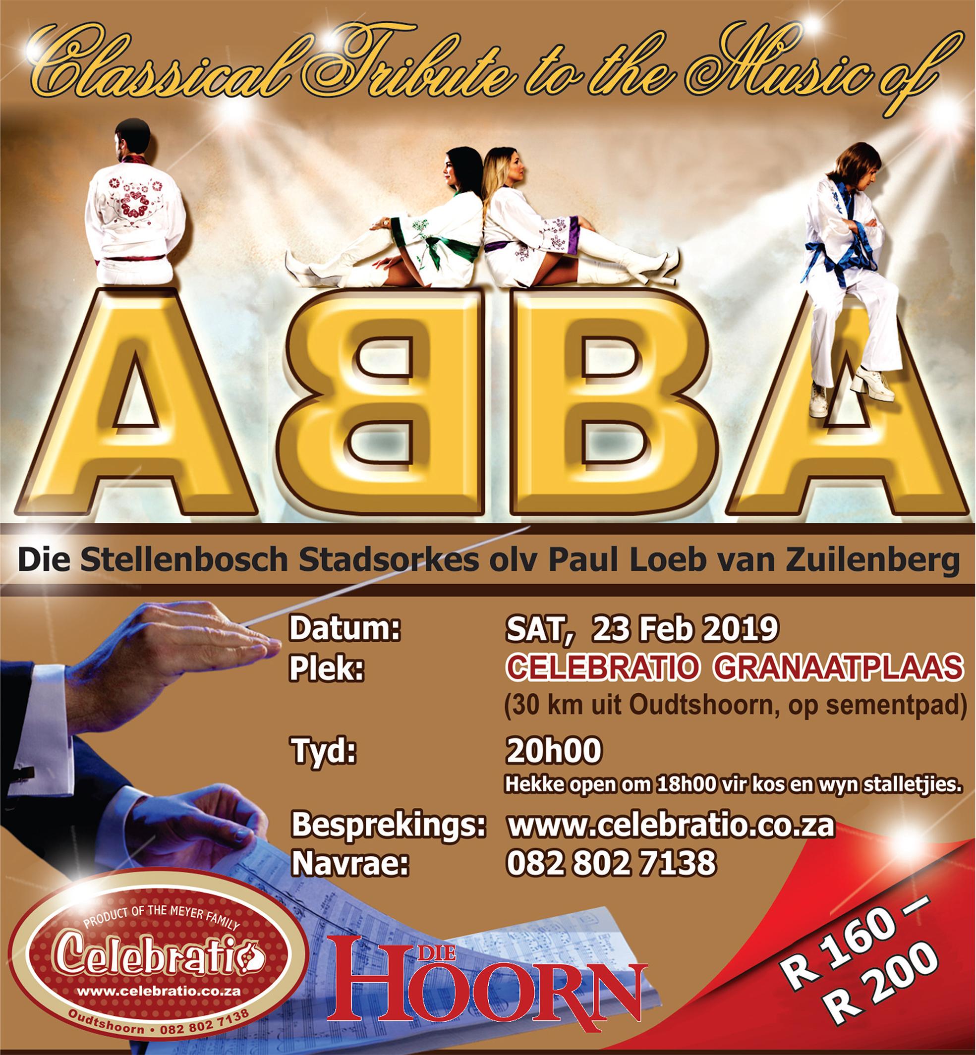 Beleef ABBA se musiek in die hart van die Klein Karoo!