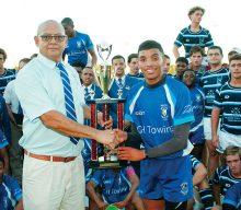 Hoërskool Bridgton (HSS) se eerste rugbyspan klop All Saints Anglikaanse Skolespan van Australië