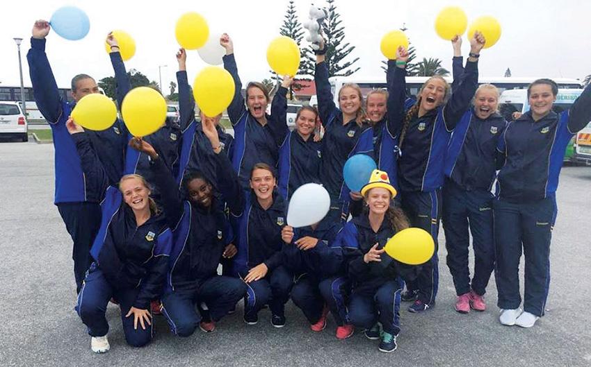 Langenhoven Gimnasium o.18 A-netbalspan wen AJ Sporttoernooi
