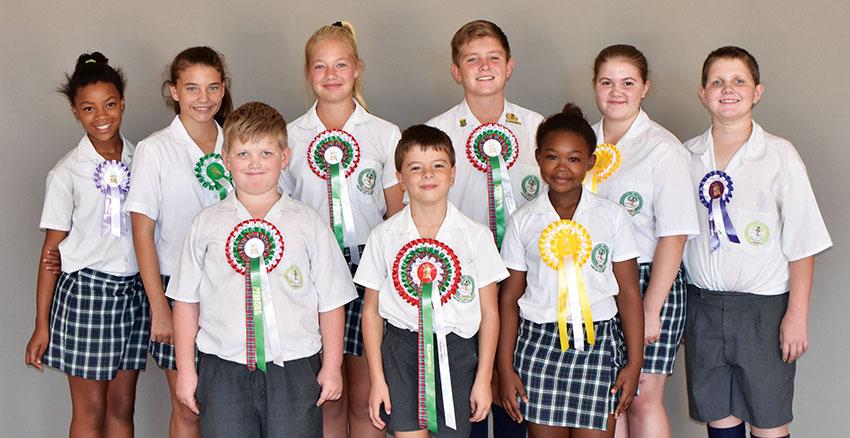 Nege leerders van Laerskool Laurus neem deel aan die Jeugskou WP Kampioenskap in Bredasdorp