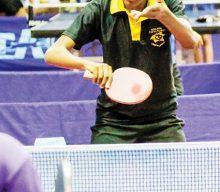 Aksie tydens Suid-Afrikaanse tafeltenniskampioenskap
